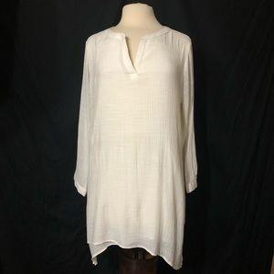 St. John's Bay Crinkle Texture 3/4 Sleeve Tunic